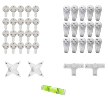 Load image into Gallery viewer, Hard Plastic White Set Of 39 Seamless Nail For Photo Frame Hooks Hangers With Leveler