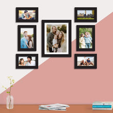 Load image into Gallery viewer, Set Of 7 Black Wall Photo Frame, For Home Decor With Free Hanging Accessories
