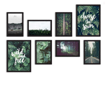 Load image into Gallery viewer, Set Of 8 Framed Poster Art Print -Green -Forest Grump, For Home & Office Decor