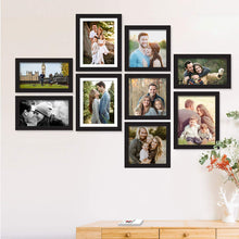 Load image into Gallery viewer, Set of 9 Individual Wall Photo Frame, For Home Decor With Free Hanging Accessories