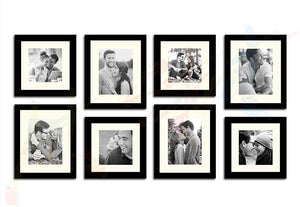 Seesaw - Set of 8 Individual Wall Photo Frame (Black) 4 Units Of 8 x 10 Inch & 8 x 8 Inch