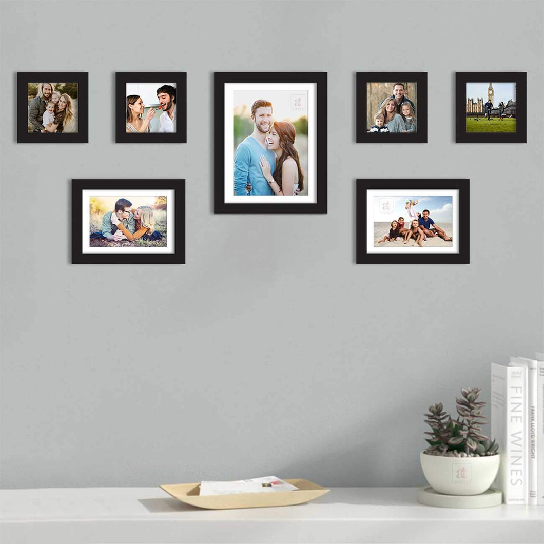 Premium Photo Frames For Wall, Living Room & Gifting - Set Of 7
