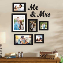Load image into Gallery viewer, Premium Black photo frames for wall ,living room ,Gift - set of 6 .