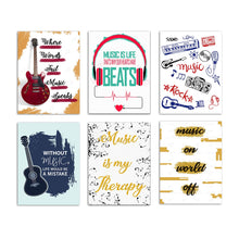 Load image into Gallery viewer, Set Of 6 Musical Theme Art Poster For Home Decor Size - 12 x 16 Inch
