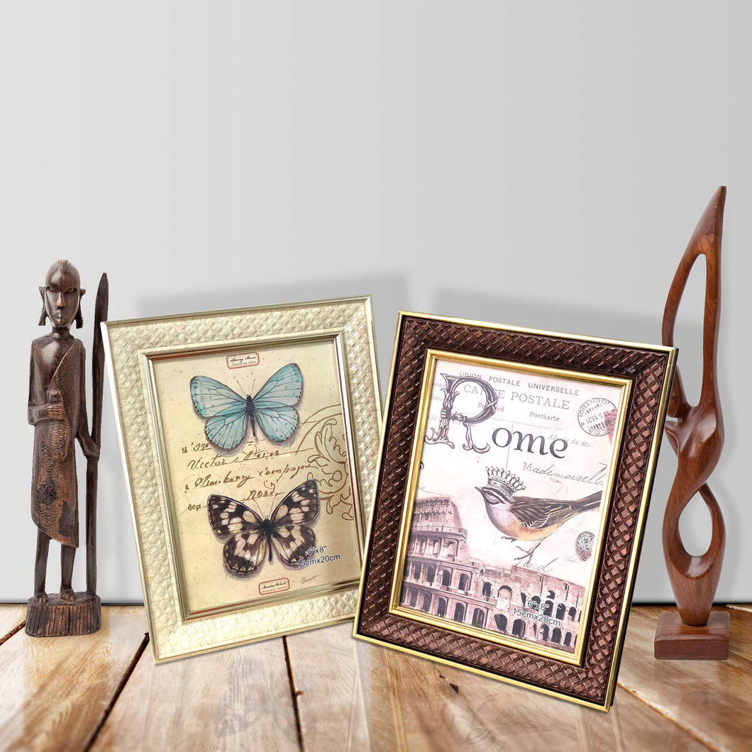 Set Of 2 Royal Memories Table Photo Frame With Stand For Office & Home Decor