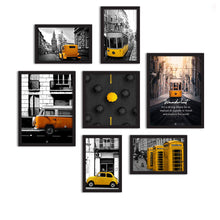 Load image into Gallery viewer, Set Of 7 Framed Poster Art Print -Tram Travel -Multicolored, For Home & Office Decor