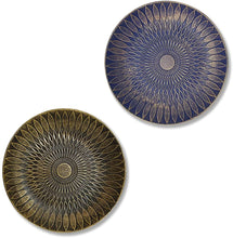 Load image into Gallery viewer, Blue & Black Set of 2 MDF Decorative Wall Plates, Wall Décor Plates for Home & Office Decoration -Size-7.5x7.5 Inches