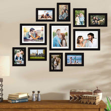Load image into Gallery viewer, Set Of 11 Black Wall Photo Frame, For Home Decor With Free Hanging Accessories