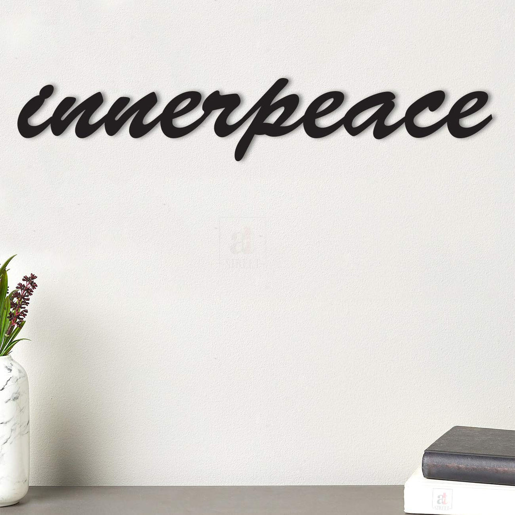 Innerpeace MDF Plaque Painted Cutout Ready To Hang For Wall Decor Size 3.3 x 19.3 Inch