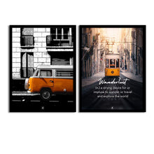 Load image into Gallery viewer, Art Street Set Of 2 Wanderlust Matte Art Print, Framed Art Print For Home Decor