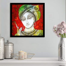Load image into Gallery viewer, Shri Krishna Framed Painting, 1 Framed Art Print For Wall Decor Size - 13 x 13 Inch