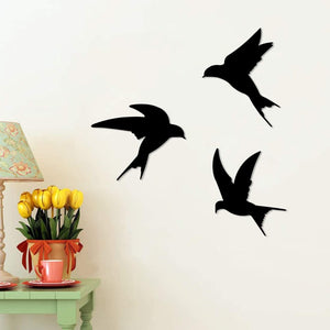 Birds Shape MDF Plaque Painted Cutout Ready To Hang Home And Wall Decoration