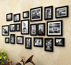 Art Street - King And Queen Set Of 20 Individual Wall Photo Frame For Home Decor