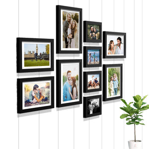 Premium Photo Frames For Wall, Living Room & Gifting - Set Of 10