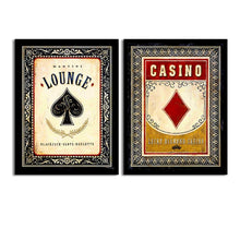 Load image into Gallery viewer, Art Street Set Of 2 Black Jack/Bar Matte Art Print, Framed Art Print For Home Decor