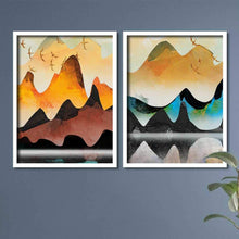Load image into Gallery viewer, Landscape Theme Multicolored Framed Canvas Art Print, For Home & Office Decor