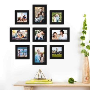 Set Of 9 Black Wall Photo Frame For Home Decor With Free Hanging Accessories