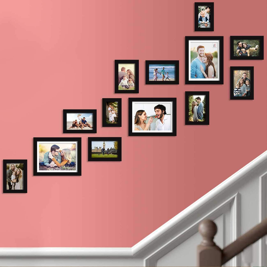 Set Of 13 Black Wall Photo Frame, For Home Decor With Free Hanging Accessories