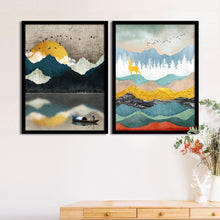 Load image into Gallery viewer, Art Street Set Of 2 Scenic View Matte Art Print, Framed Art Print For Home Decor