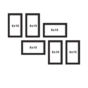 Set Of 6 Black Wall Photo Frame, For Home Decor With Free Hanging Accessories