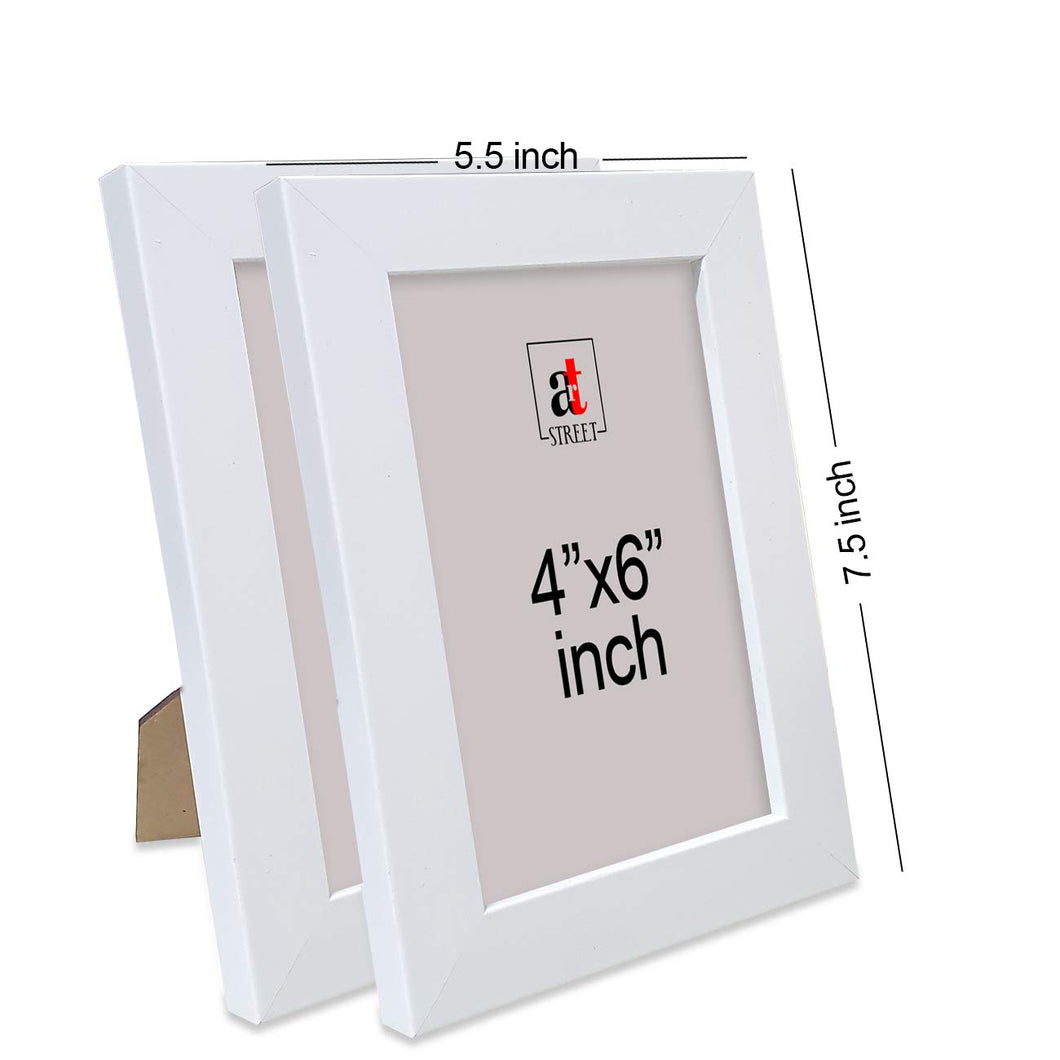 Set of 2 Table Top Photo Frames For Office & Home Tables Decor Size - 4 x 6 Inch