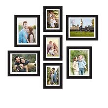 Load image into Gallery viewer, Set Of 7 Individual Black Wall Photo Frame, For Home Decor With Free Hanging Accessories