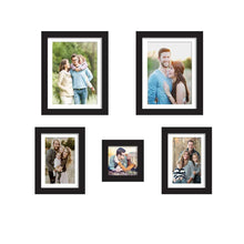 Load image into Gallery viewer, Set Of 5 Black Wall Photo Frame, For Home Decor With Free Hanging Accessories