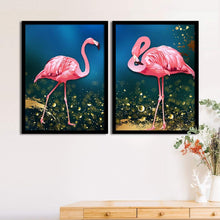 Load image into Gallery viewer, Art Street Set Of 2 Pink Flamingo Matte Art Print, Framed Art Print For Home Decor