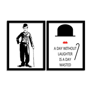 "A Day Without Laughter Is A Day Wasted Theme Framed Art Print Size - 13.5"" x 17.5"" Inch"