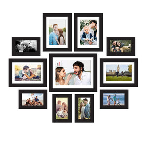 Set Of 11 Wall Photo Frame, For Home Decor With Free Hanging Accessories
