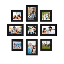 Load image into Gallery viewer, Set Of 9 Black Wall Photo Frame For Home Decor With Free Hanging Accessories