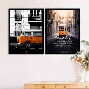 Art Street Set Of 2 Wanderlust Matte Art Print, Framed Art Print For Home Decor