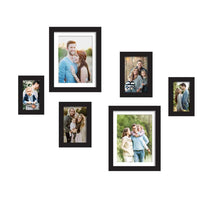 Load image into Gallery viewer, Set Of 6 Individual Wall Photo Frame, For Home Decor With Free Hanging Accessories