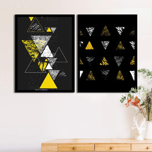 Art Street Set Of Black Mad Trio Matte Art Print, Framed Art Print For Home Decor