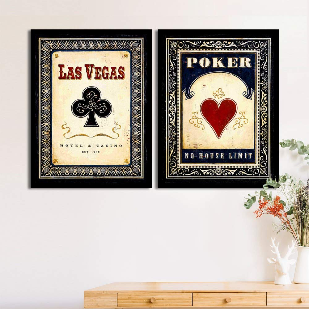 Art Street Set Of 2 Vegas Casino/Bar Matte Art Print, Framed Art Print For Home Decor