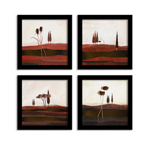Load image into Gallery viewer, Rich Field Set Of 4 Black Framed Art Prints Size - 9 x 9 Inch