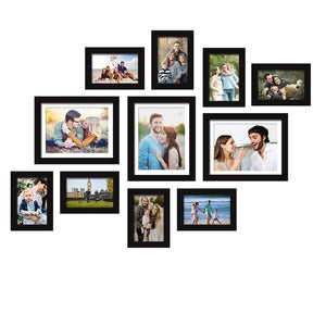 Set Of 11 Black Wall Photo Frame, For Home Decor With Free Hanging Accessories