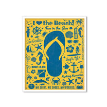 Load image into Gallery viewer, Beach Theme Framed Canvas Art Print, Painting Size -11 x 13 Inch