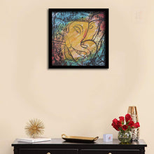 Load image into Gallery viewer, Shri Ganesh Ji Framed Painting, 1 Framed Art Print For Home Decor Size - 13 x 13 Inch