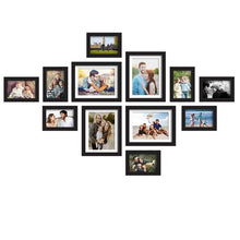 Load image into Gallery viewer, Set Of 12 Black Wall Photo Frame, For Home Decor With Free Hanging Accessories