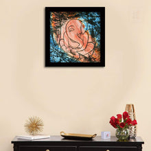 Load image into Gallery viewer, Sri Ganesha Framed Painting, 1 Framed Art Print For Wall Decor Size - 13 x 13 Inch
