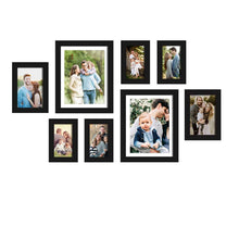 Load image into Gallery viewer, Set Of 8 Individual Black Wall Photo Frame, For Home Decor With Free Hanging Accessories