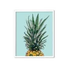 Load image into Gallery viewer, Pineapple Theme Framed Canvas Art Print, Painting -11 x 13 Inch