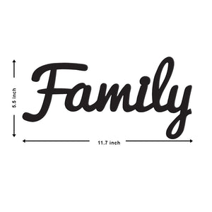 Family MDF Plaque Painted Cutout Ready To Hang Size - 5.5 x 11.7 Inch