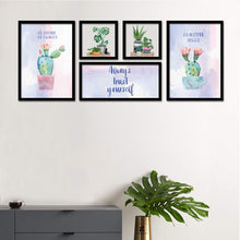 Load image into Gallery viewer, Set Of 5 Framed Poster Art Print -Always Trust Yourself - Plant Art Print-Multicolored, Art Print For Living Room