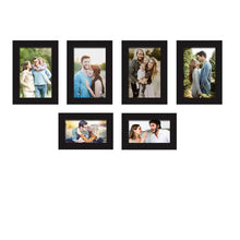 Load image into Gallery viewer, Set Of 6 Black Wall Photo Frame, For Home Decor With Free Hanging Accessories