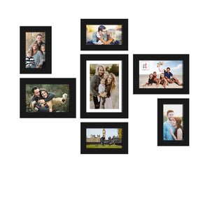 Set Of 7 Wall Photo Frame, For Home Decor With Free Hanging Accessories