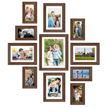 Load image into Gallery viewer, Set Of 11 Brown Wall Photo Frame, For Home Decor With Free Hanging Accessories