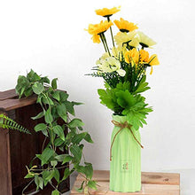 Load image into Gallery viewer, Yellow & White Multi Head Sunflower Flower Plant With Vase.