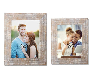 Set Of 2 Distressed Table Photo Frame For Office & Home Decor